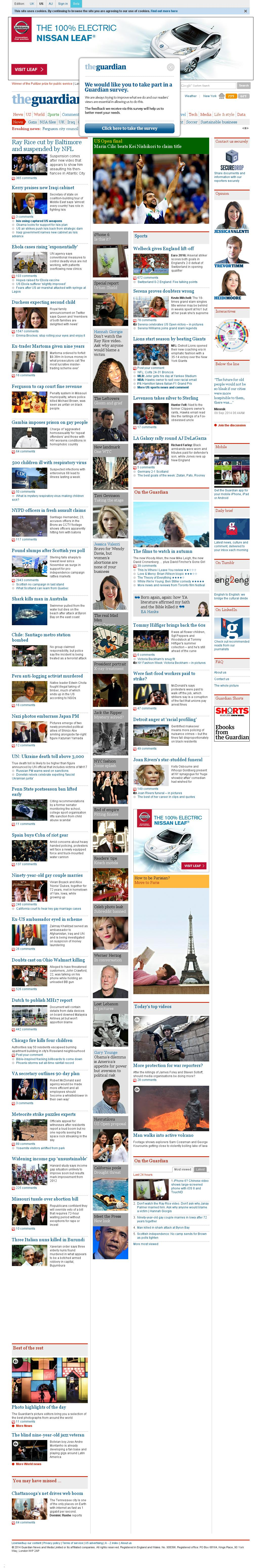 The Guardian at Tuesday Sept. 9, 2014, 7:07 a.m. UTC