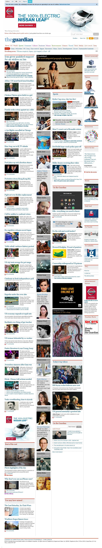 The Guardian at Saturday Sept. 27, 2014, 11:06 a.m. UTC