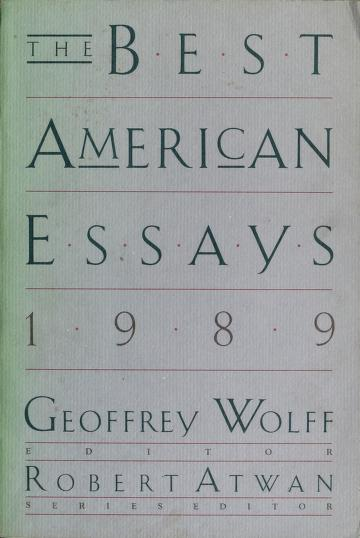 Cover of: The Best American Essays, 1989 (Best American Essays) | Geoffrey Wolff